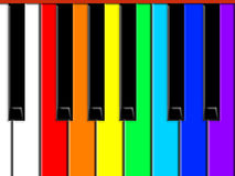 Tasten des Klaviers vektor abbildung