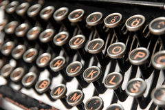 Tasten einer alten Schreibmaschine Stockfoto