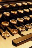 Tasten einer alten Schreibmaschine Stockfotos