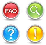 Tasten - FAQ, saerch, Hilfe, Aufmerksamkeit; lizenzfreie abbildung