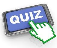 Tasten- und Handcursornadelanzeige des Quiz 3d Stockbilder