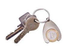 Tasten zum Schlüsselring. Lizenzfreie Stockbilder