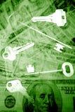 Tasten zur Finanzfreiheit Stockfoto