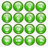 Tastenfingerhandikonenweb-Symbol Stockbilder
