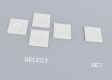 Tastenwahlpanel Stockbilder