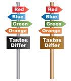Tastes Differ Stock Photo