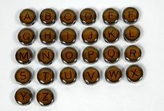 Tasti antichi della macchina da scrivere Fotografia Stock Libera da Diritti