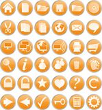 Tasti arancioni Fotografia Stock Libera da Diritti