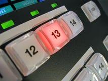 Tasti astratti di potenza sul pannello di controllo, strumentazione, Fotografia Stock