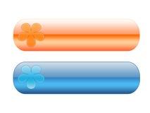 tasti Blu-arancioni Fotografia Stock