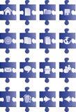 Tasti blu di puzzle Fotografia Stock
