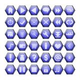 Tasti blu di Web illustrazione di stock