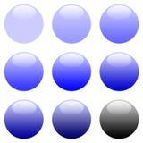 Tasti blu rotondi di Web di gradiente Immagine Stock Libera da Diritti