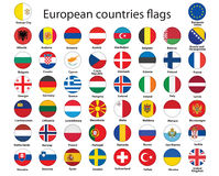 Tasti con le bandierine di Europa Fotografia Stock Libera da Diritti