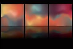 Tasti d'ardore orizzontali con la riflessione Fotografia Stock Libera da Diritti