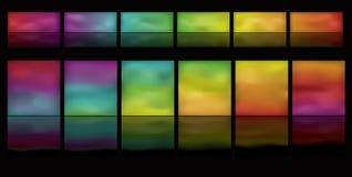 Tasti d'ardore orizzontali con la riflessione Immagine Stock