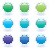 Tasti del calcolatore nei colori freddi Fotografie Stock
