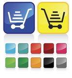 Tasti del carrello di acquisto di Web Immagini Stock