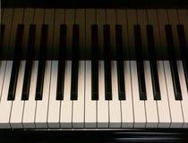 Tasti del grande piano Fotografia Stock