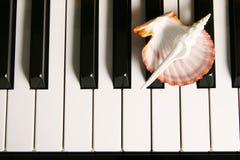 Tasti del piano. Immagini Stock