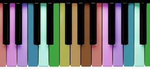 Tasti del piano del Rainbow Fotografia Stock