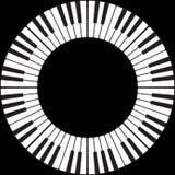 Tasti del piano in un cerchio Fotografia Stock