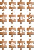 Tasti del puzle del Brown Fotografia Stock Libera da Diritti
