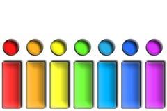 Tasti del Rainbow Immagini Stock Libere da Diritti