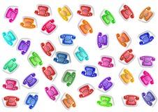 Tasti del telefono di colore Fotografie Stock Libere da Diritti