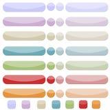 Tasti delicati di Web del colourfull Fotografia Stock