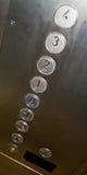 Tasti dell'elevatore Fotografia Stock