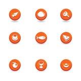 Tasti dell'icona dell'alimento Fotografia Stock Libera da Diritti