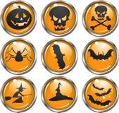 Tasti dell'icona di Halloween Immagini Stock