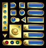 Tasti dell'oro Fotografia Stock Libera da Diritti
