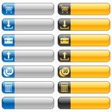 Tasti della bandiera con le icone 2 di Web Immagine Stock