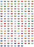 Tasti della bandierina del mondo Fotografia Stock Libera da Diritti