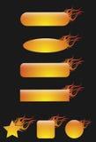 Tasti della fiamma Fotografie Stock Libere da Diritti