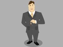 Tasti della holding dell'uomo del bene immobile royalty illustrazione gratis