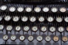 Chiavi d'annata della macchina da scrivere fotografie stock libere da diritti
