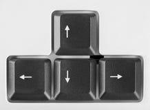 Tasti delle frecce sulla tastiera di calcolatore Fotografie Stock Libere da Diritti