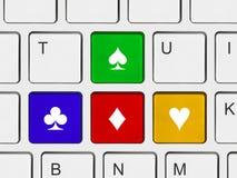 Tasti delle frecce sulla tastiera di calcolatore Fotografia Stock Libera da Diritti