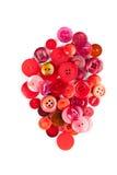 Tasti di cucito rossi Fotografie Stock Libere da Diritti