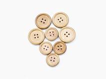Tasti di legno Fotografie Stock Libere da Diritti