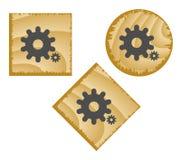 Tasti di legno di Web. Fotografie Stock Libere da Diritti