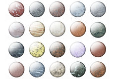 Tasti di marmo lucidi Fotografie Stock Libere da Diritti