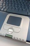 Tasti di multimedia sul computer portatile Fotografie Stock Libere da Diritti