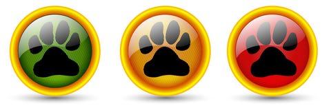 Tasti di orma del cane Fotografia Stock Libera da Diritti