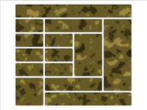 Tasti di percorso di Web site del camuffamento dell'esercito del deserto Fotografie Stock Libere da Diritti