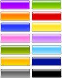 Tasti di rettangolo di vetro o del gel Immagini Stock