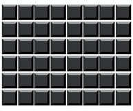 Tasti di tastiera in bianco del calcolatore Fotografia Stock Libera da Diritti